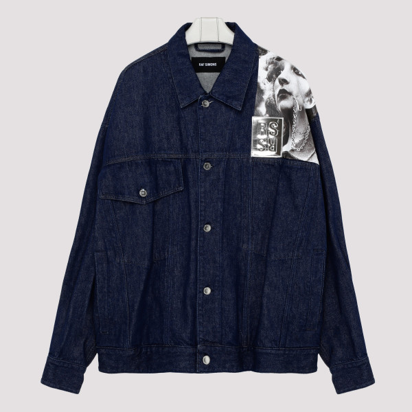 Blue denim jacket with...