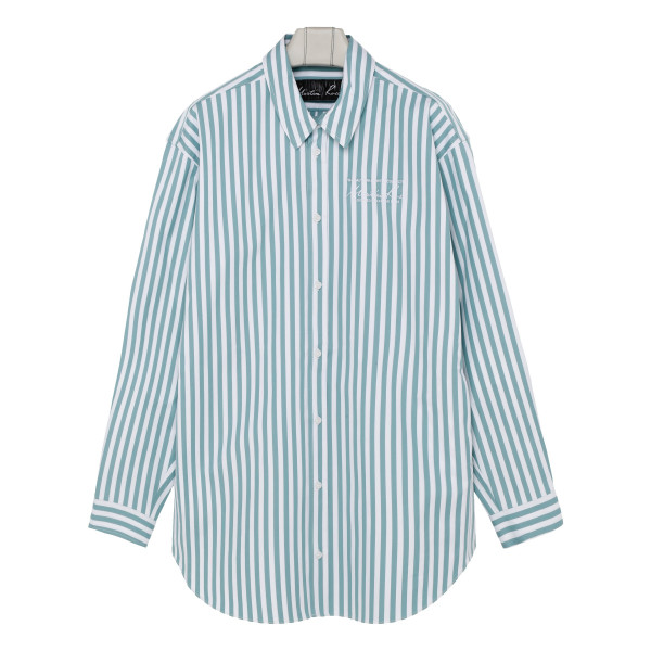 White and mint Candy striped shirt