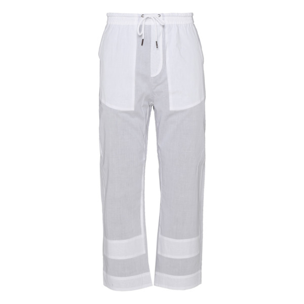 Gray and white cotton pants