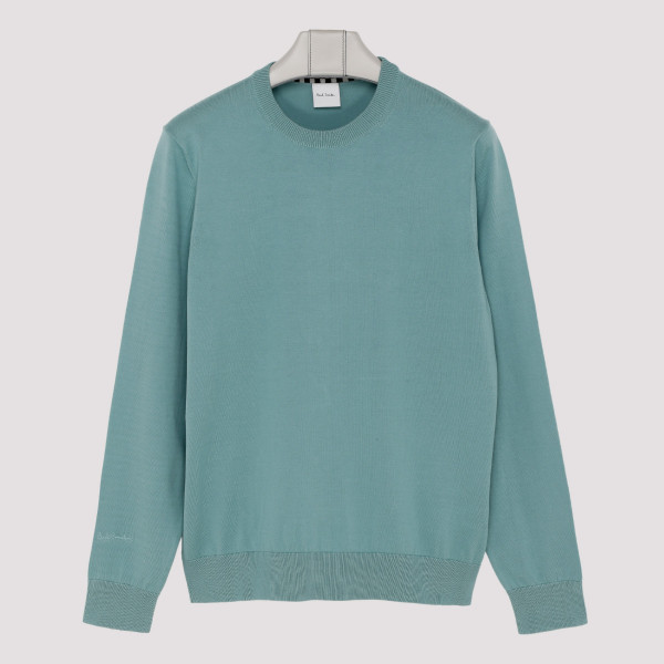 Teal green cotton sweater