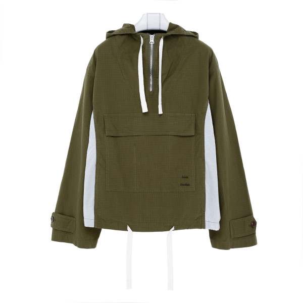 Khaki green anorak jacket