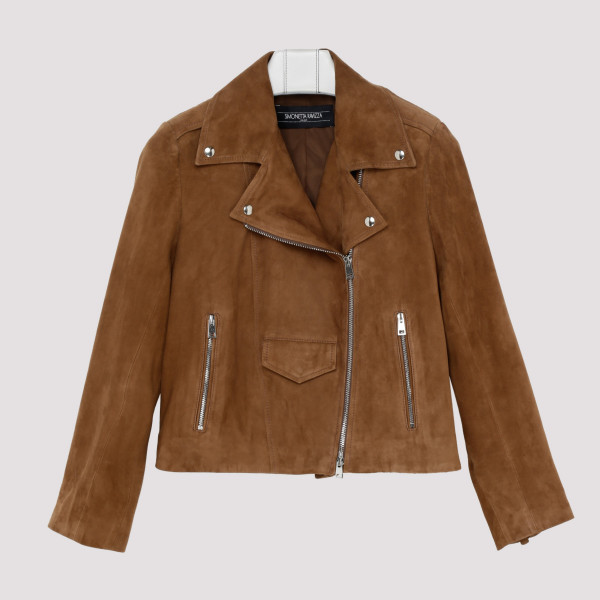 Tan suede leather jacket...