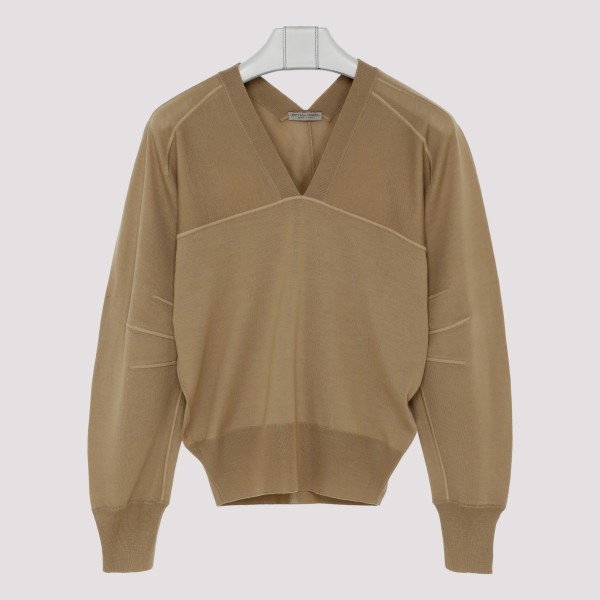 Camel merino wool sweater