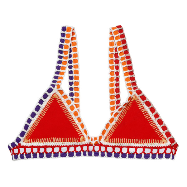 Kaia tru red triangle bikini top