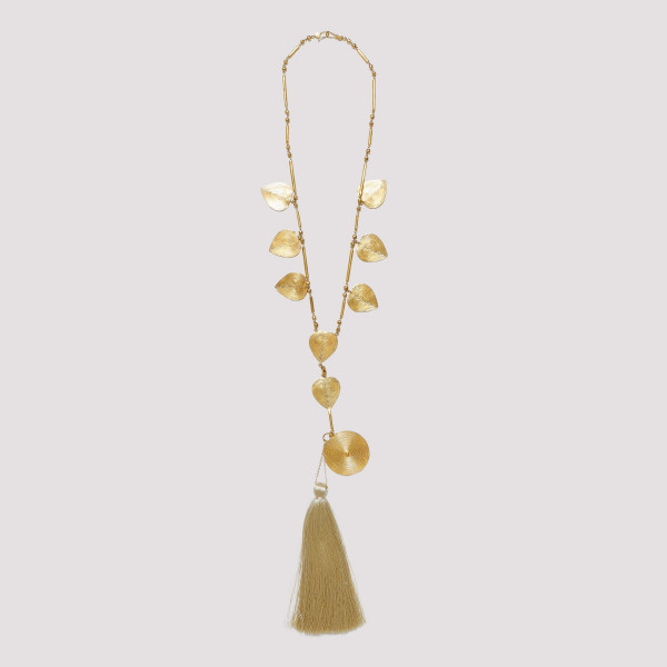 Gold-tone necklace with...