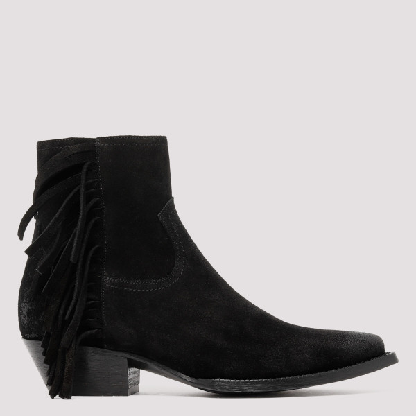 Lukas black suede fringes...