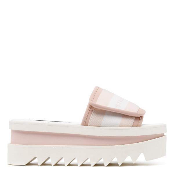 White and pink Sneak-Elyse Slides