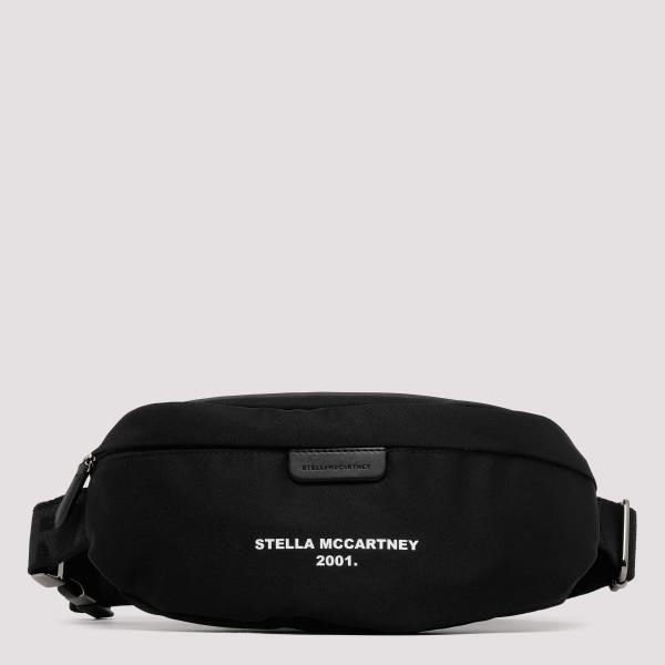 Black belt bag with logo