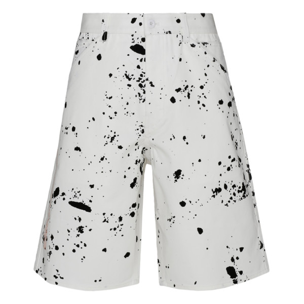 Black and white Splatter bermuda shorts