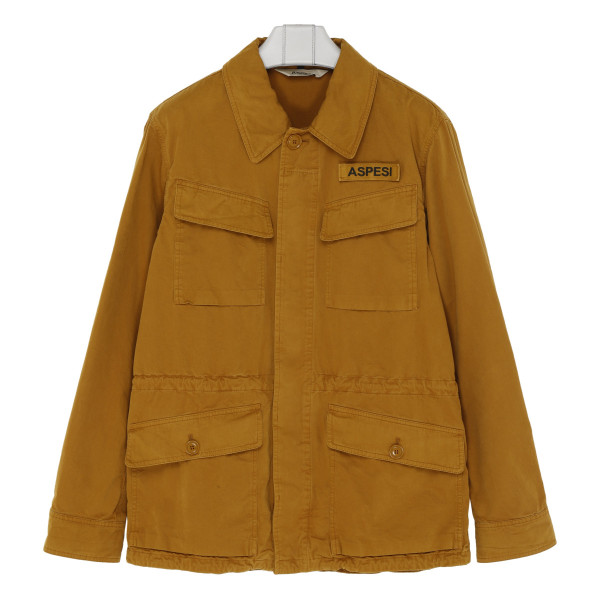 Tobacco Four-pocket cotton field jacket