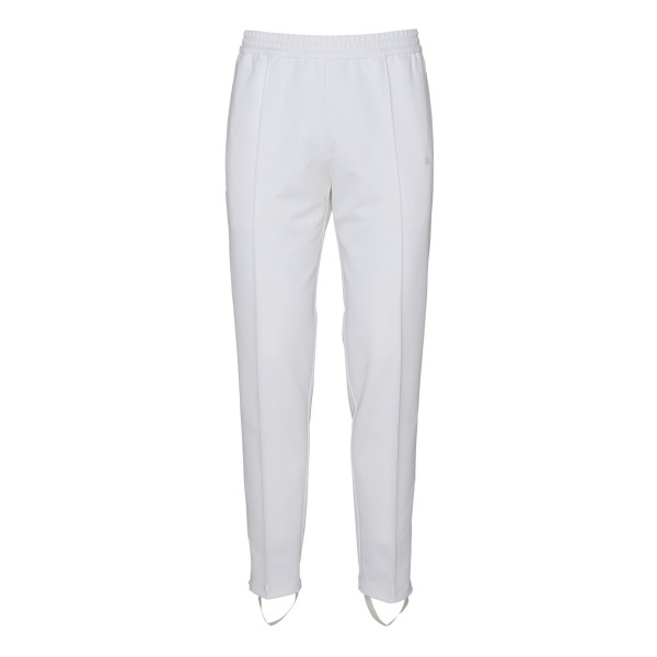White cotton blend elasticated pants