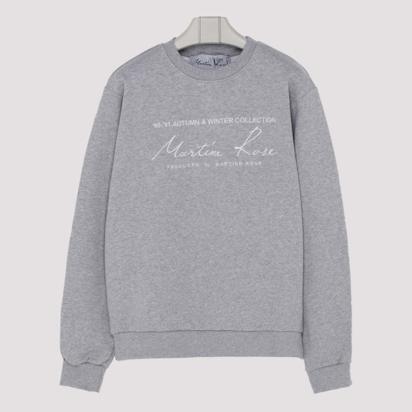 Gray cotton sweatshirt with...