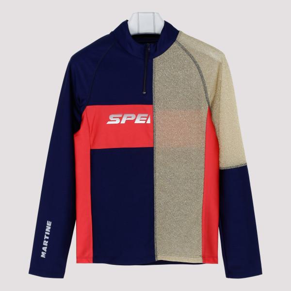 Multicolor contrasting panel sweatshirt