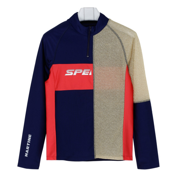 Multicolor contrasting panel sweatshirt