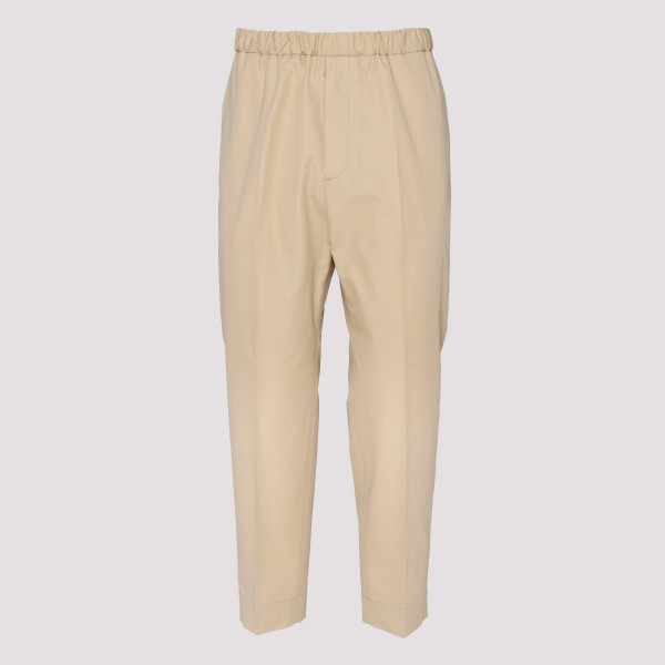 Beige drop crotch pants