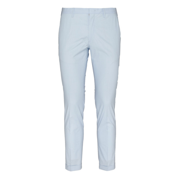 Light blue slim fit tailored pants