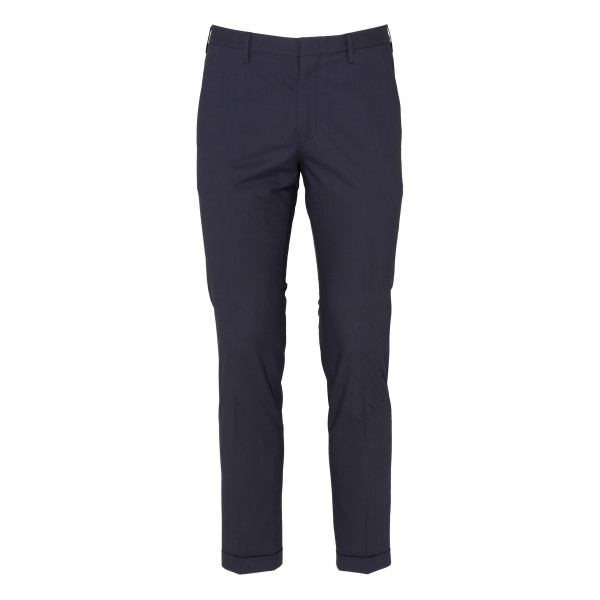 Blue slim fit tailored pants