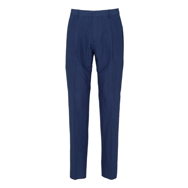 Dark blue tapered leg pants