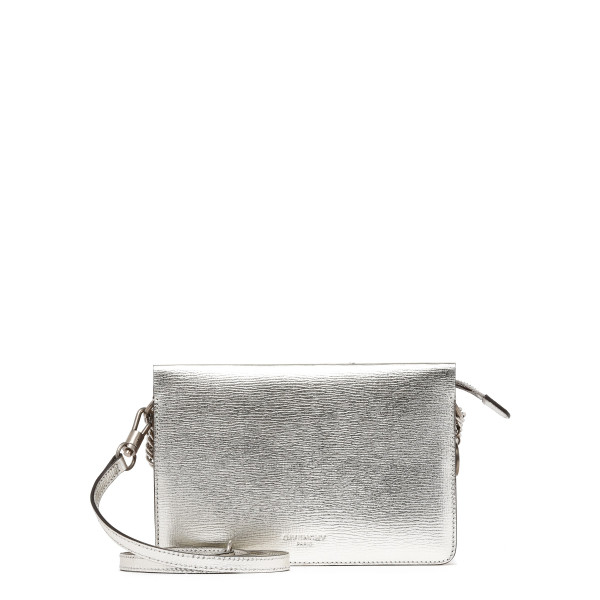 Silver leather and suede Cross3 bag