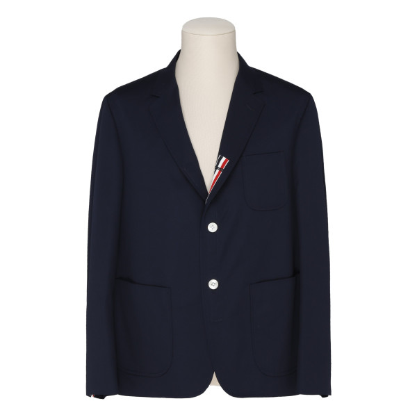Blue unconstructed blazer