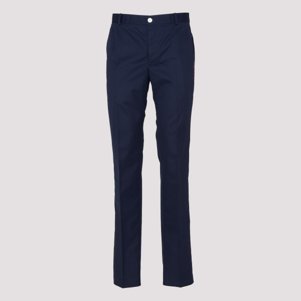 Blue unconstructed pants