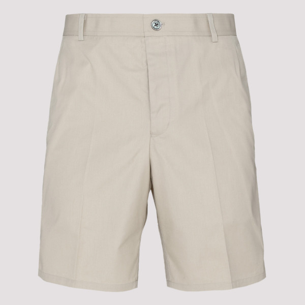 Beige wool shorts