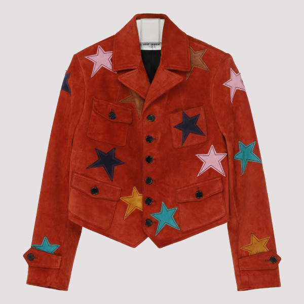 Red suede jacket with...