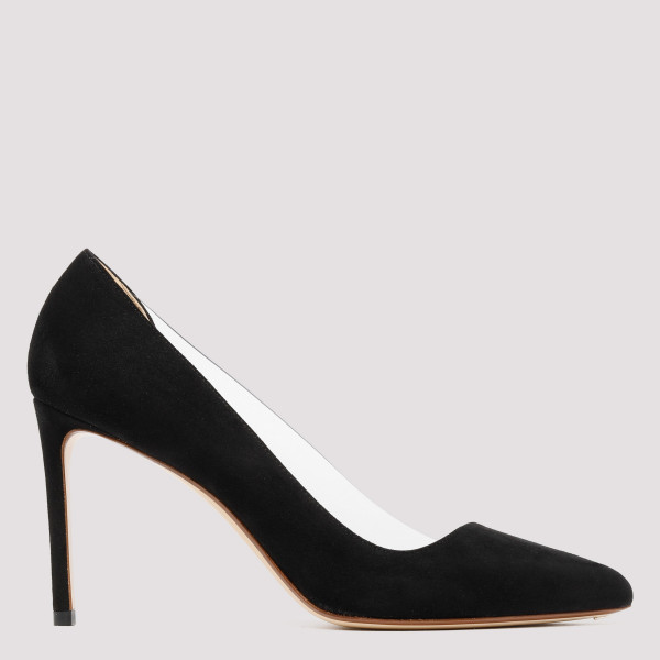 Black Point-toe suede and...