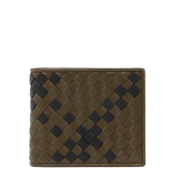 Intrecciato nappa bi-fold wallet