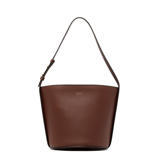 Avril tobacco leather bucket bag