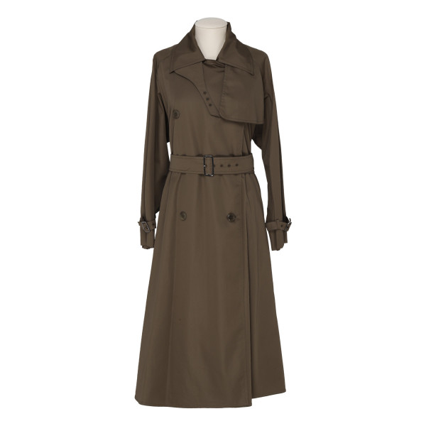 Albano khaki green trench coat