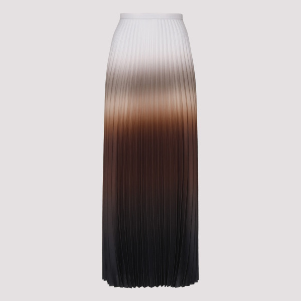 Abatina tobacco pleated skirt