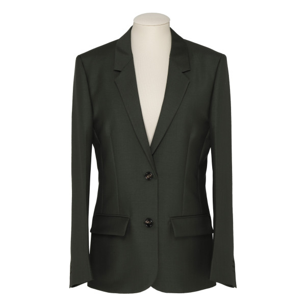 Green cotton poplin jacket