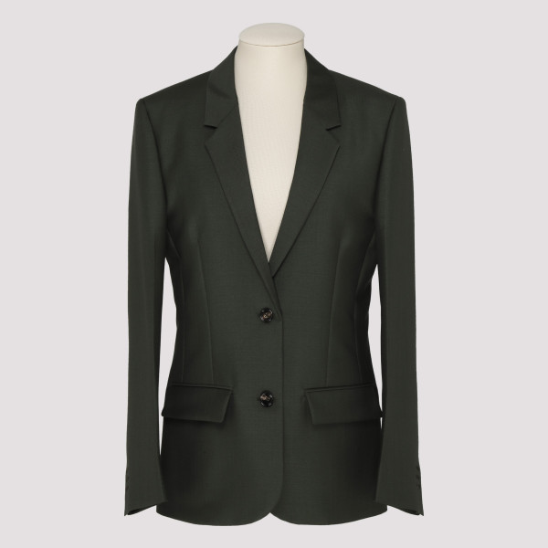 851fd62ac1 Green cotton poplin jacket