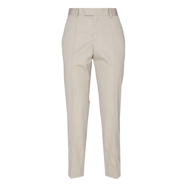Beige cotton poplin pants