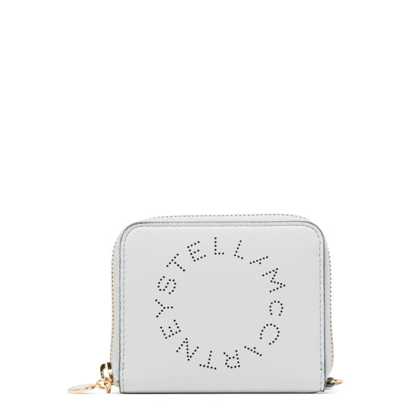 White alter nappa compact wallet