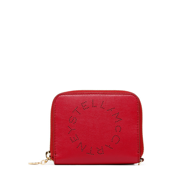 Red alter nappa compact wallet