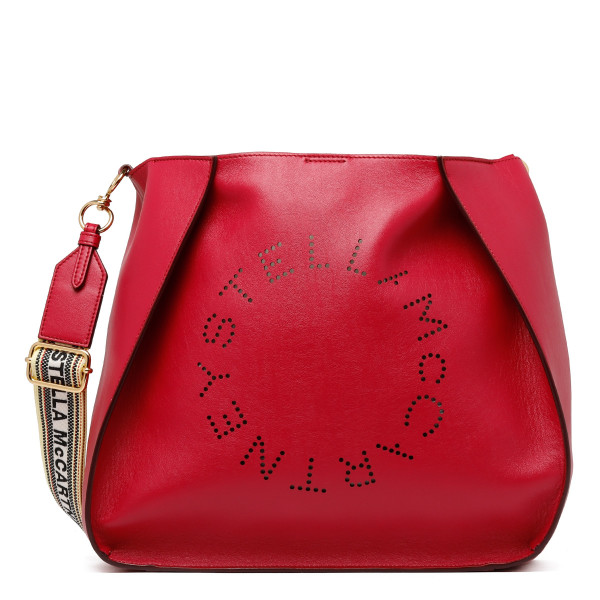 Red alter leather tote bag