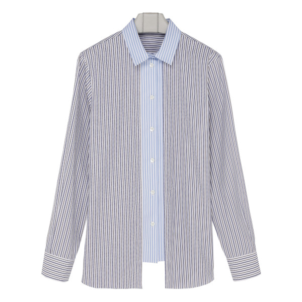 Multi-stripes cotton shirt