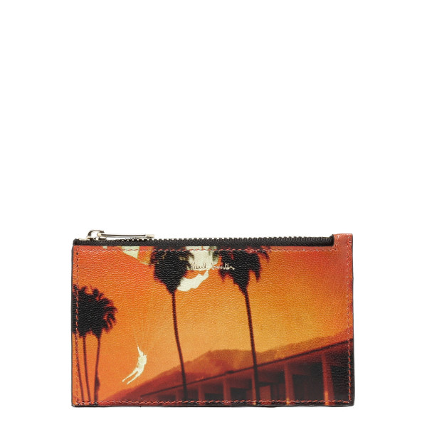 Orange Paul's Photo zipped pouch