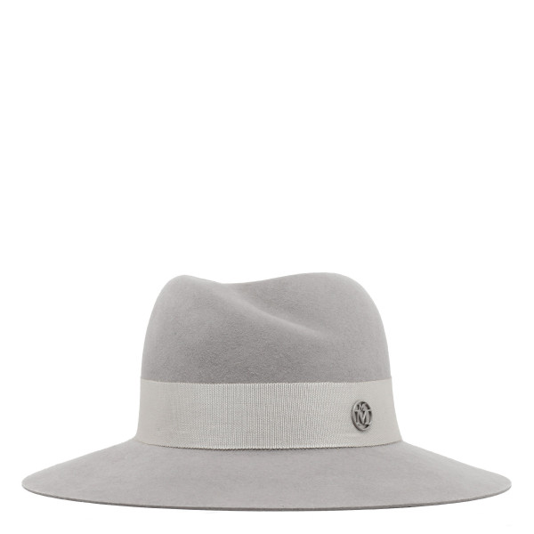 Virginie pearl grey rabbit furfelt fedora