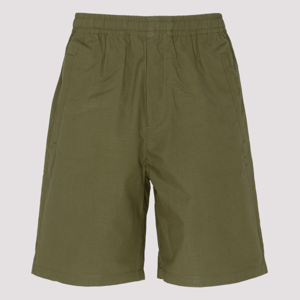 Khaki green cotton shorts