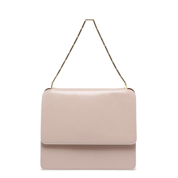 Cache squared pink leather handbag