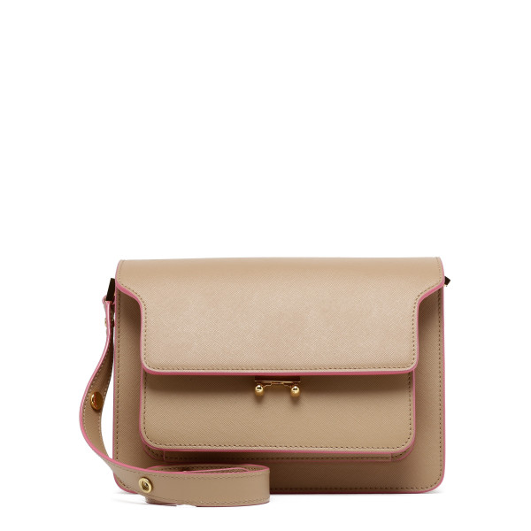 Beige saffiano leather Trunk bag