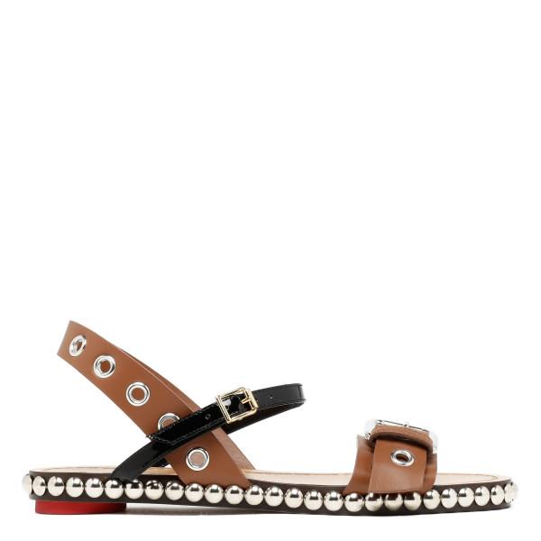 Studded flat sandals