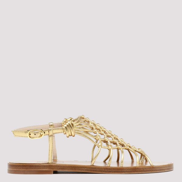 Seaside gold nappa mule...