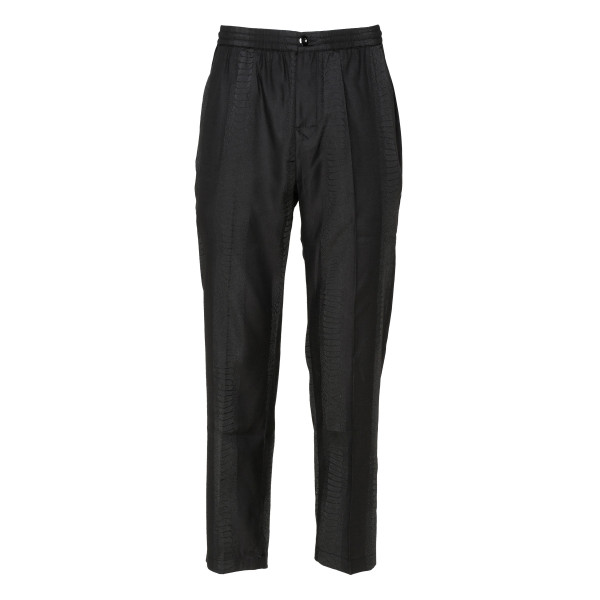 Black Bryan pants with tonal snake pattern
