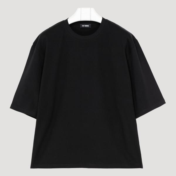 Black cut out printed T-shirt
