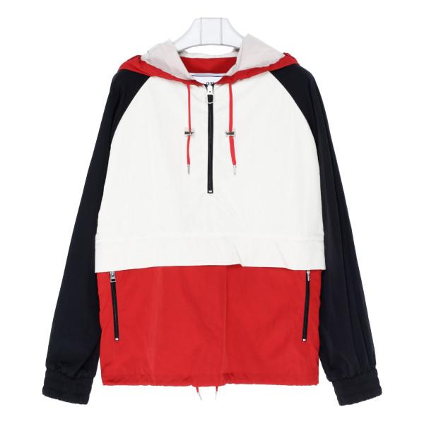 Multicolor Half-Zipped Anorak jacket