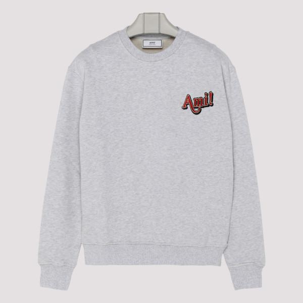 Gray cotton sweatshirt with...